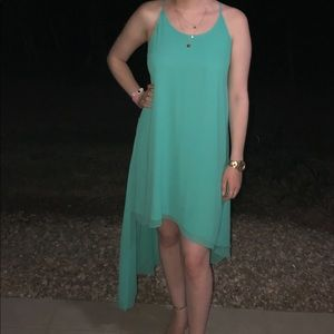 High-Low BCBG turquoise dress